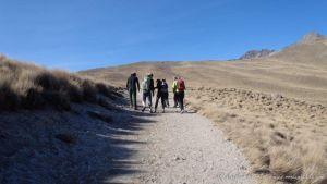 De camino hacia la Arista Humboldt - Nevado Toluca - México