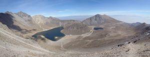 Panoramica de la Caldera del Volcan Nevado de Toluca - México