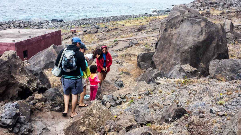 Viendo Un Nido. Al otro lado el Centro de Recuperación del lobo marino - Ihlas Desertas, Madeira, Portugal
