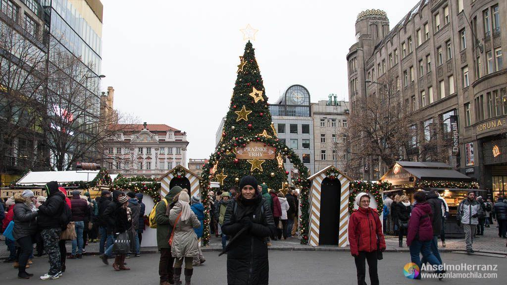 Mercado de Navidad de Plaza Wenceslao - Praga