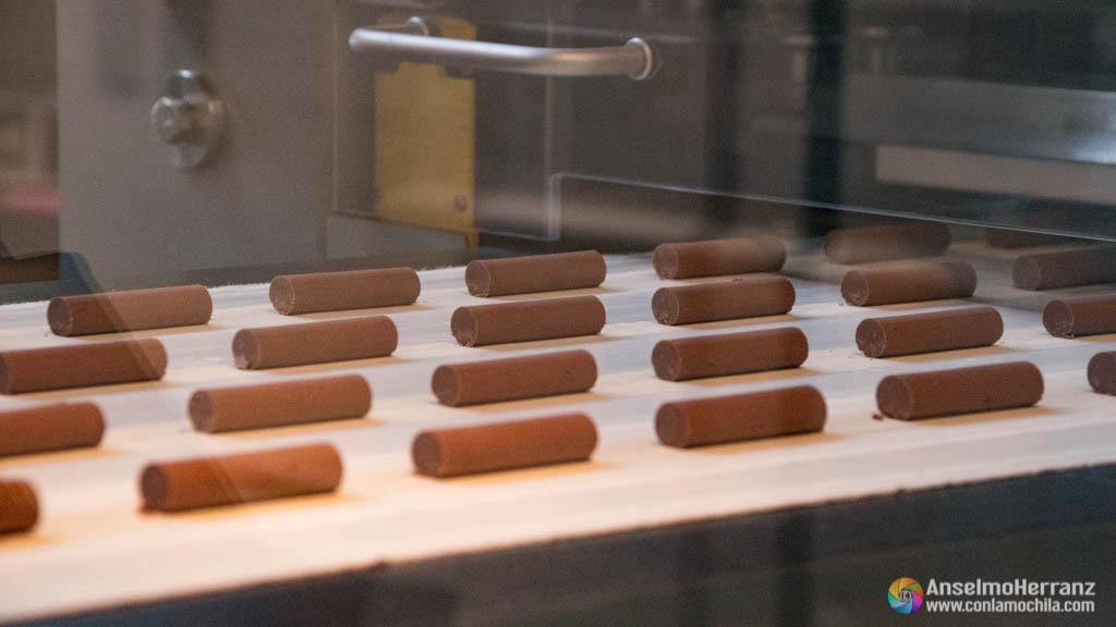 Fábrica de chocolate Maison Cailler - Máquina de chocolatinas