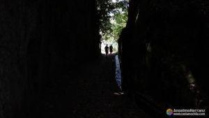 Paso hacia el mirador de los Balcões - Levada Serra Faial - Madeira
