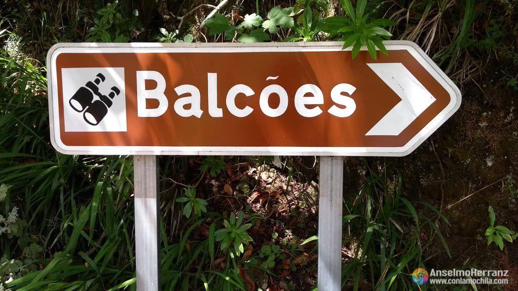Cartel de inicio de la Vereda dos Balcões - Madeira
