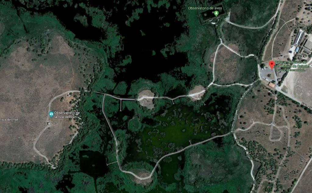 Vista Aerea del Itinerario de la Isla del Pan