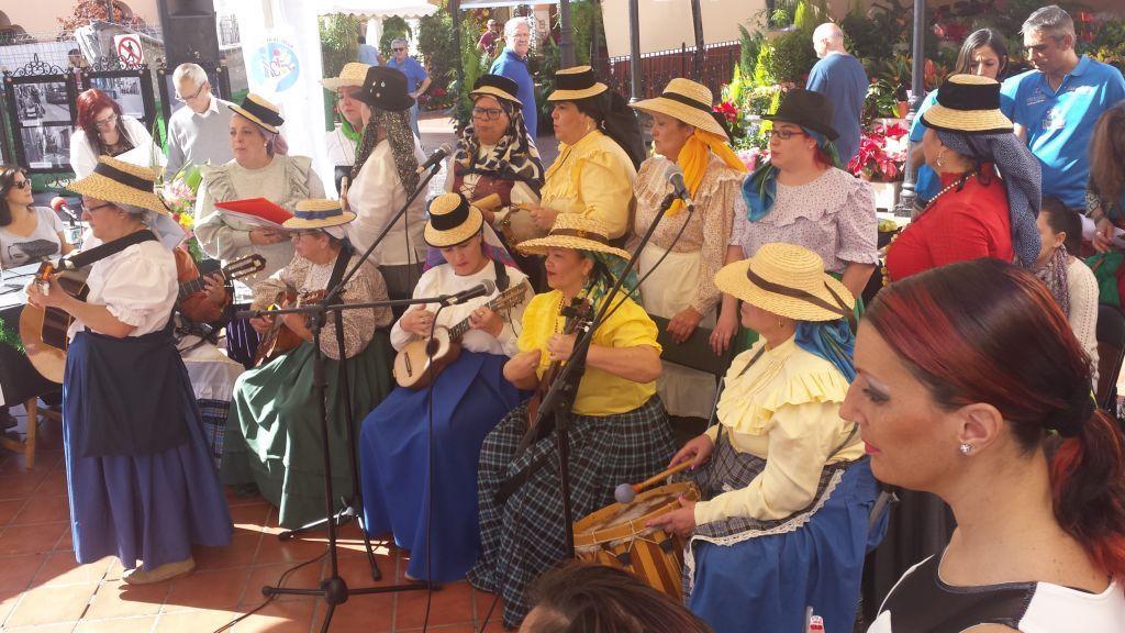 Grupo interpretando canciones populares - Santa Cruz de Tenerife