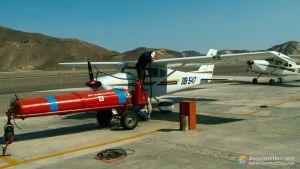 Avioneta en la que sobrevolamos las lineas de Nazca - Perú