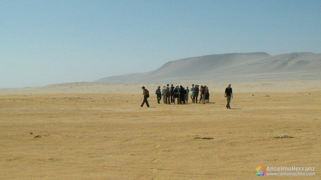 Turistas en la peninsula de Paracas - Perú