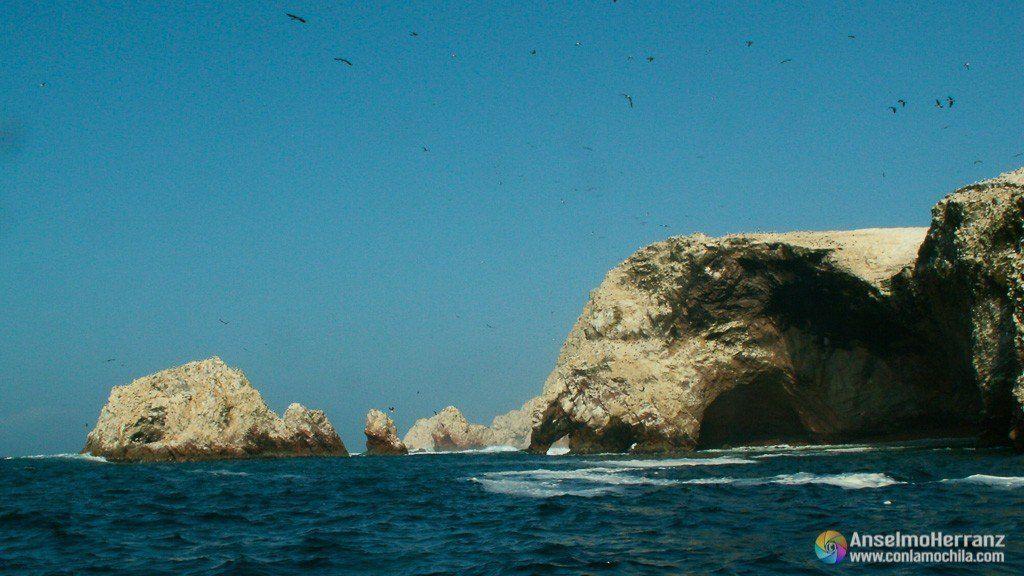 Aves sobrevolando las Islas Ballestas - Ica - Perú