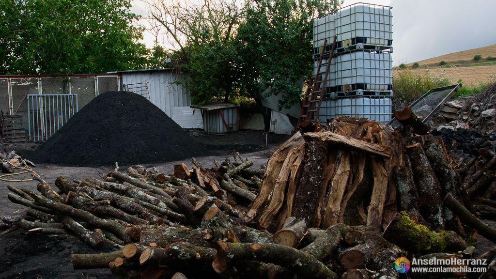 Una era preparada para montar la carbonera - Viloria - Sierra de Urbasa - Navarra