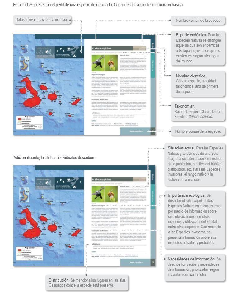 Fichas del Atlas de las Islas Galápagos - Ecuador