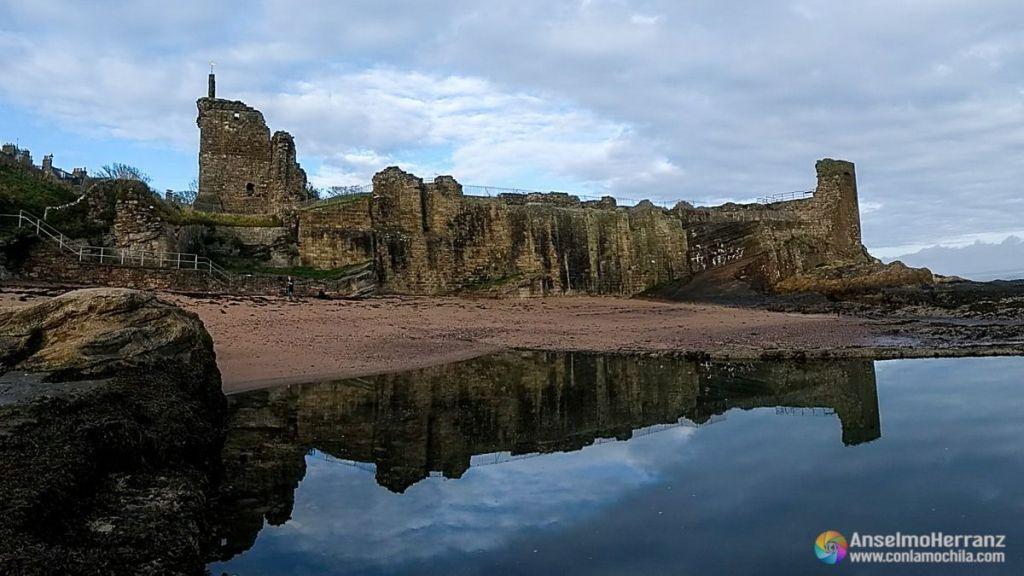 Castillo de Saint Andrews desde la playa