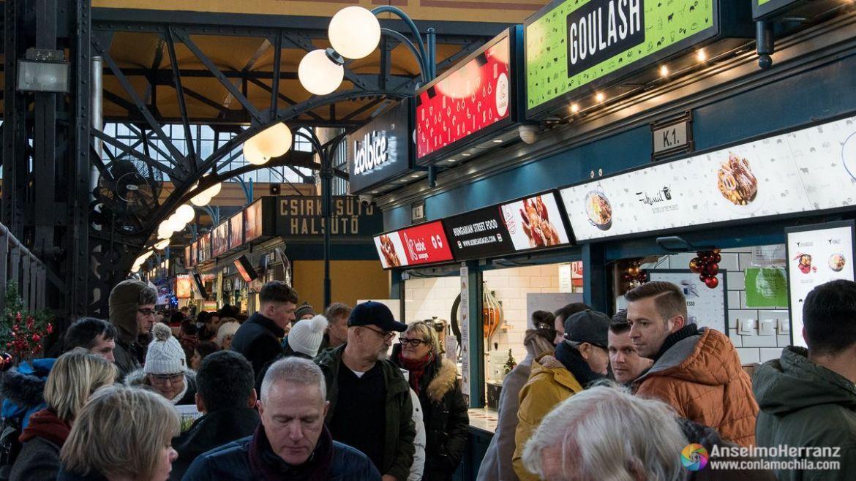 Restaurantes en el Mercado Central de Budapest