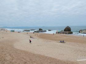 Búnkers de Capbreton en la playa - Francia
