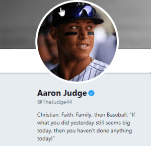 Aaron Judge Twitter