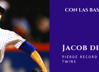 Jacob deGrom pierde record contra Twins