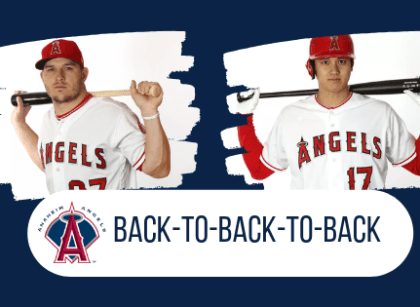 Trout y Ohtani parte de cuadrangulares back to back to back
