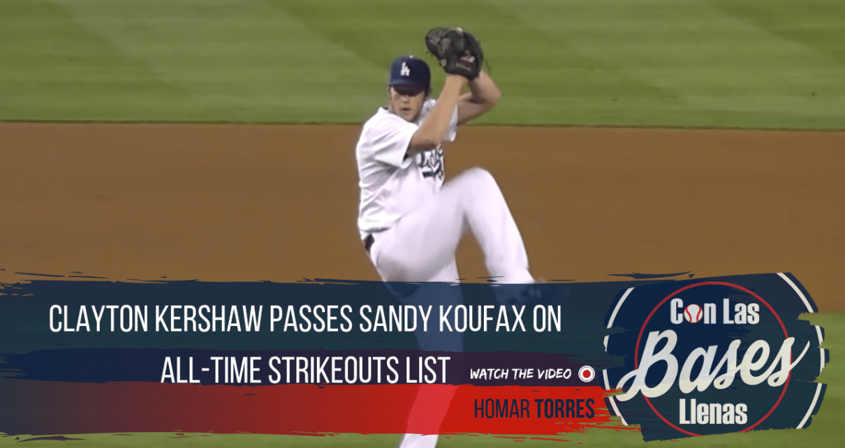 Clayton Kershaw passes Sandy Koufax on all-time strikeouts list