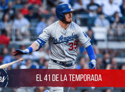 Cody Bellinger con su home run 41 de la temporada