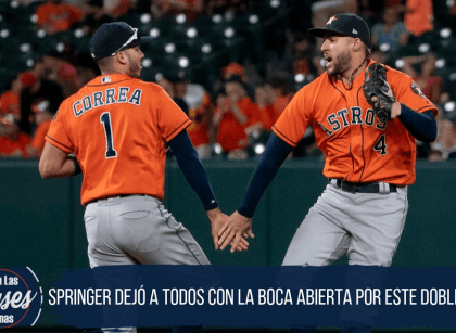 GEORGE SPRINGER Y SU SENSACIONAL DOBLE PLAY