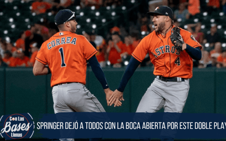 George Springer doble play