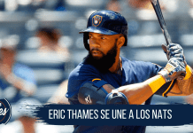 Eric Thames se une a los Washington Nationals