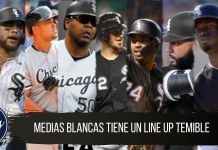 Line up de los MEDIAS BLANCAS DE CHICAGO