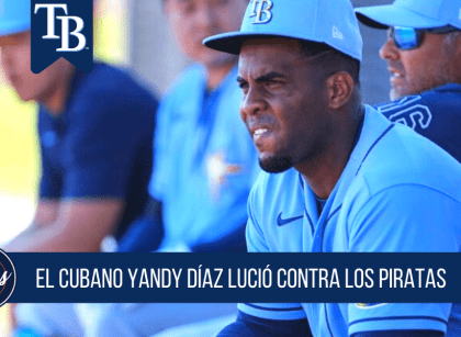 Yandy Diaz sigue bateando en el Spring Training 2020