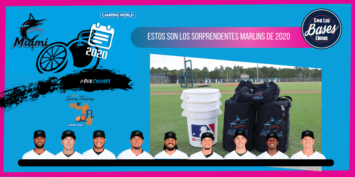 Miami Marlins en los Spring Training 2020.