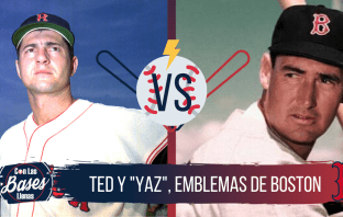 ted williams y carl yastrzemski emblemas de Boston
