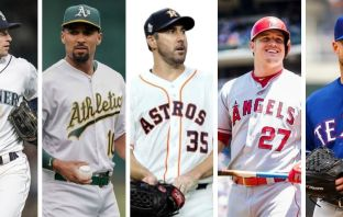 Astros, Marineros, Athletics, Rangers, Angels