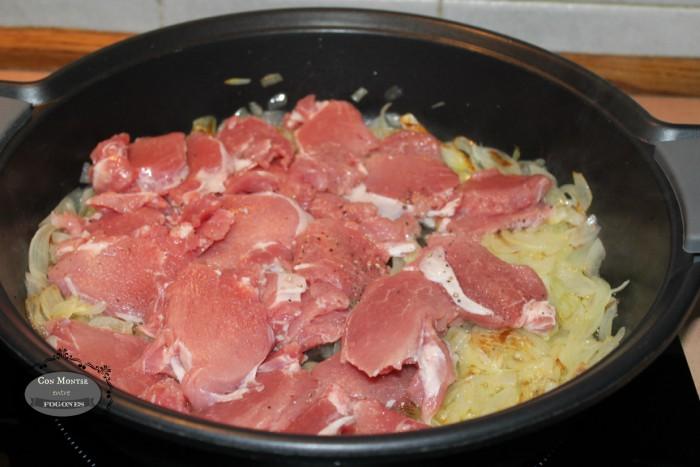 Solomillo de cerdo con nata y setas variadas III