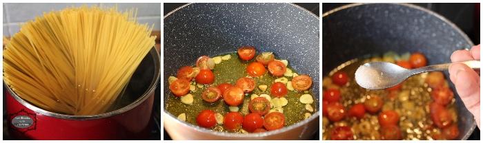 Espaguetis con langostino y tomatitos cherry 1