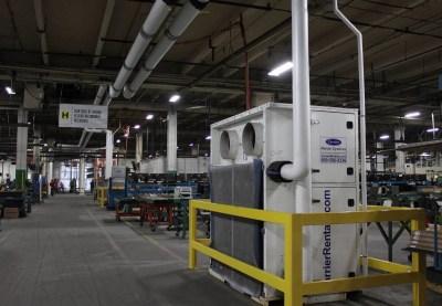 Hytrol's facility air conditioning units