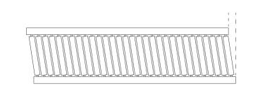 Unsquared roller conveyor