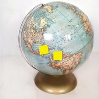 Post it notes on globe