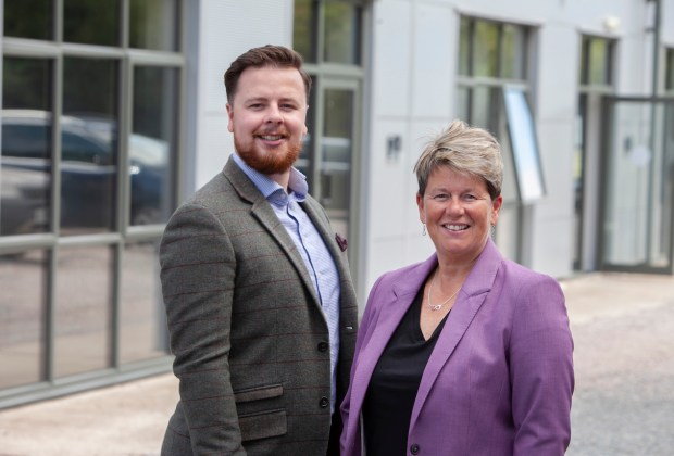 L-R Elliot Cook and Bev Cook Simple Marketing Consultancy in Nottingham
