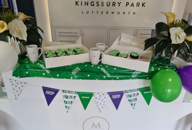 Mulberry Homes' Kingsbury Park development in Lutterworth was decorated for Macmillan's World's Biggest Coffee Morning-709c02e0
