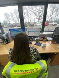 Lily Johnson (member of staff from North Notts BID member Trans-Sport.tv) using the new online training platform-7878c89f