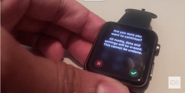 Apple Watch Reset