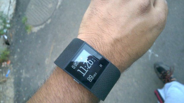 Fitbit Surge Display on the Move