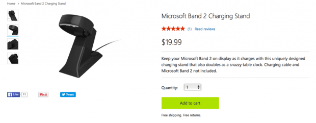 Microsoft Band 2 Official Listing