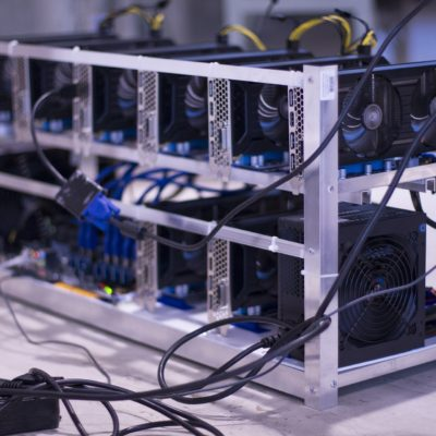 A set of mining rigs