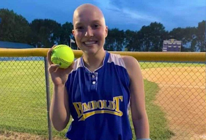 High School Softball Player Battling Cancer Hits First Home Run