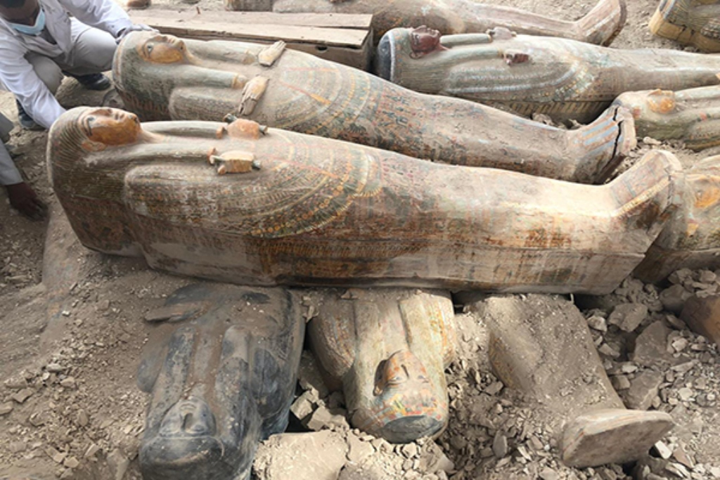 More Than 20 Sealed Coffins Uncovered At Ancient Egyptian Cemetery
