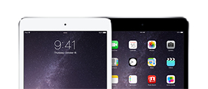 Apple iPad mini 2 family, in Silver and Space Gray