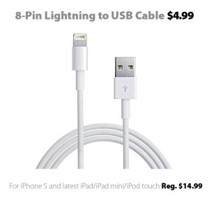 8-pin Lightning to USB cable for $4.99