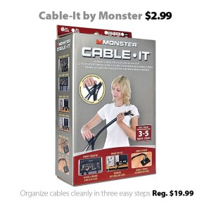 Monster Cable Cable-It cable organizer for $2.99