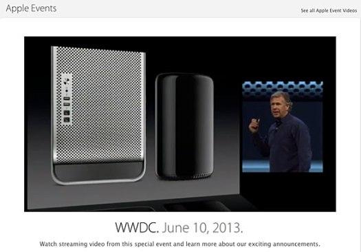 Apple WWDC 2013 keynote presentation