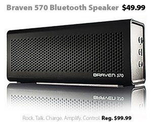 BRAVEN 570 Bluetooth Speaker for $49.99 this week at Connecting Point