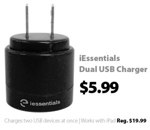 Dual USB charger for $5.99 as Connecting Point's Deal of the Week